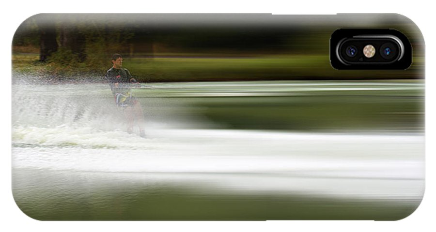 The Water Skier IPhone X / XS Case featuring the photograph The Water Skier 2 by Douglas Barnard