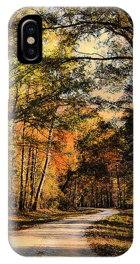 Autumn IPhone X Case featuring the photograph The Way Home by Jai Johnson