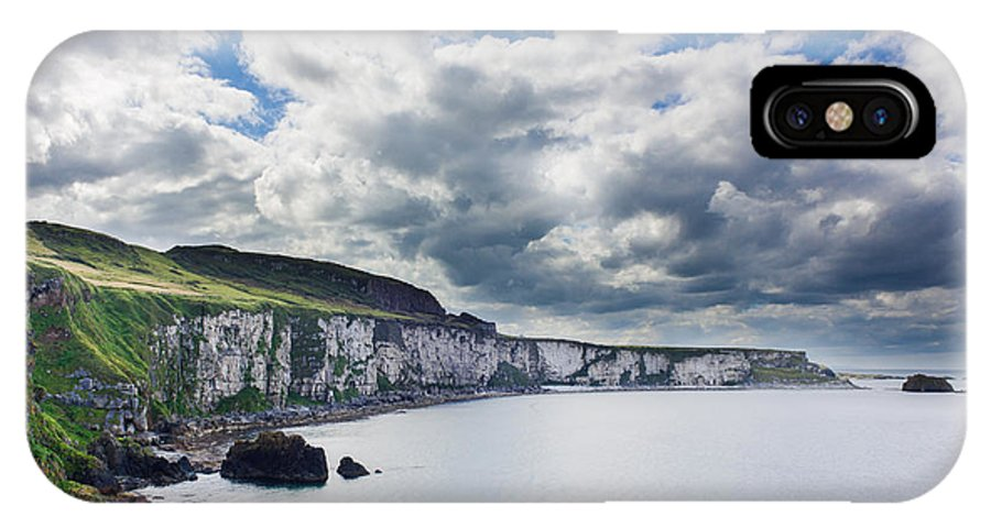 Blue IPhone X Case featuring the photograph The White Cliffs Of Carrick A Rede by Semmick Photo