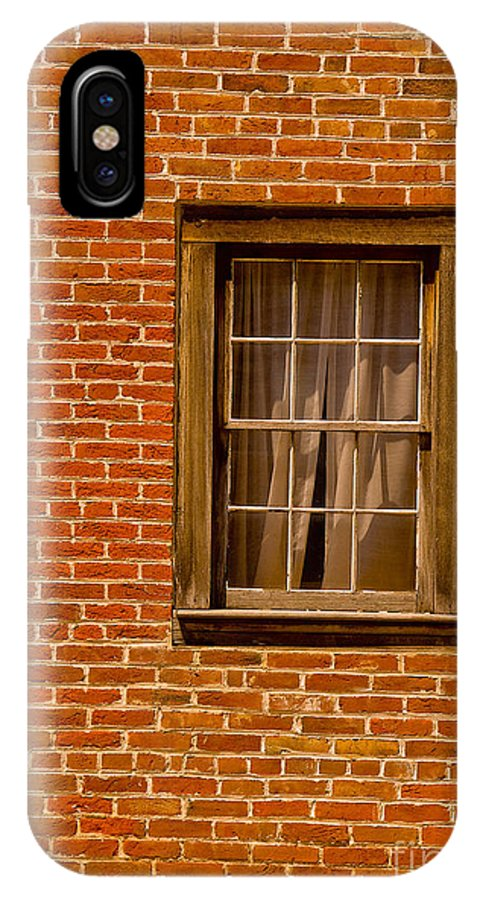 Bricks IPhone X Case featuring the photograph The Window by Peggy Starks