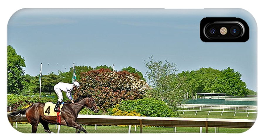 Monmouth Park IPhone X / XS Case featuring the photograph The Winner by Catherine Conroy