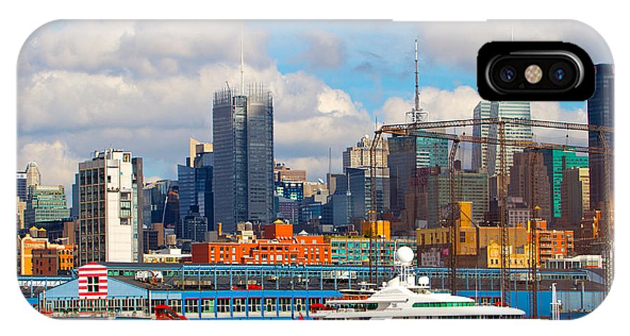 New York City Yacht View Water Scenic IPhone X Case featuring the photograph There's My Yacht by Alice Gipson