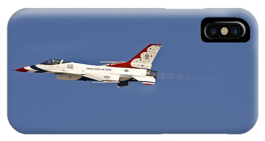 Usaf IPhone X Case featuring the photograph Thunderbird 6 In Burner by Tim Mulina