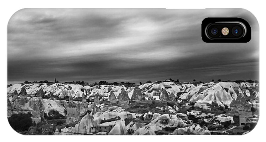 Cappadocia IPhone X Case featuring the photograph Thunderous Morning Over Cappadocia by Kantilal Patel