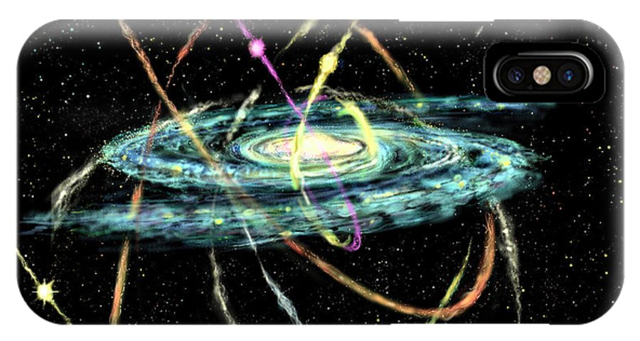 Astronomy IPhone X Case featuring the digital art Tidal Disruption Of Dwarf Spheroidal Galaxies by Russell Kightley