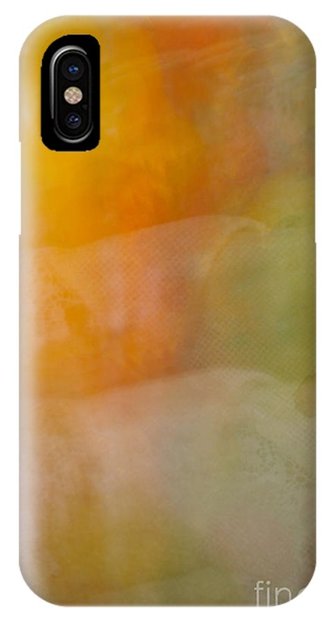 Abstract Art IPhone X Case featuring the photograph Tiers by Susan Herber