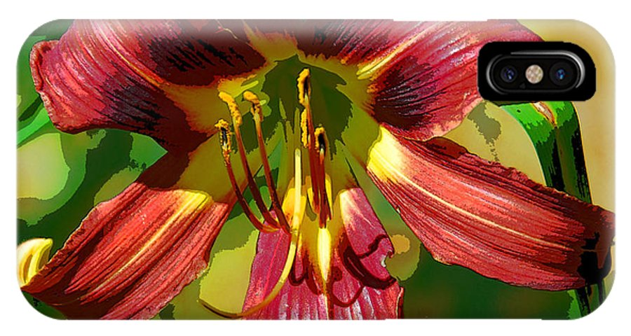 Flower IPhone X Case featuring the photograph Tiger Lily by Cindy Manero