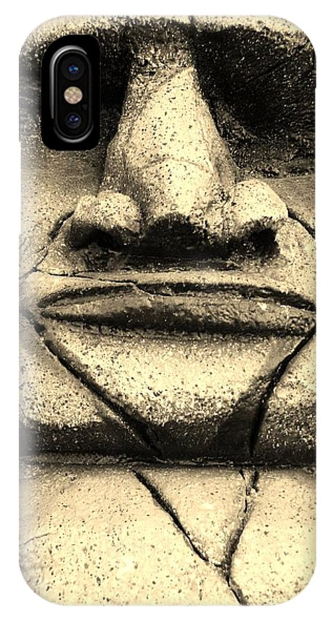Easter Island IPhone X Case featuring the photograph Tiki Dude by Rob Hans