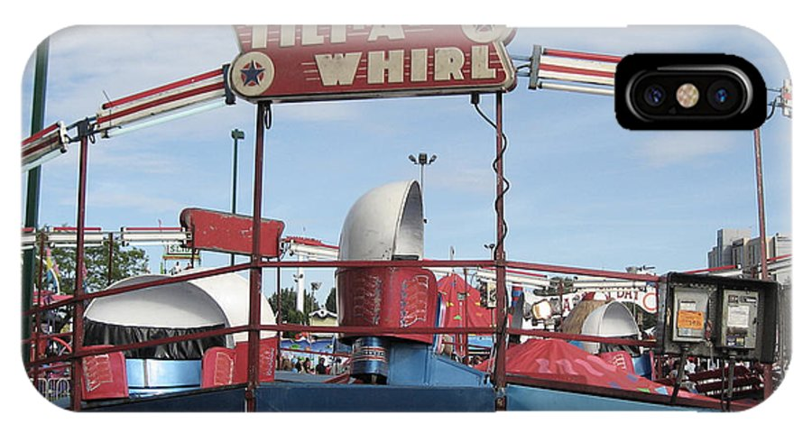 Tilt-a-whirl IPhone X Case featuring the photograph Tilt A Whirl Ride by Kym Backland