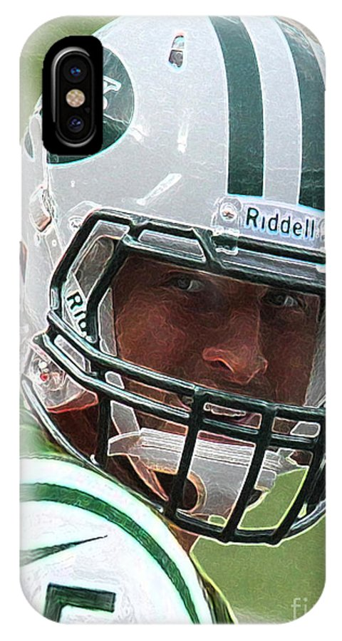 Lee Dos Santos IPhone X Case featuring the photograph Tim Tebow Art Deco IIi - New York Jets - by Lee Dos Santos