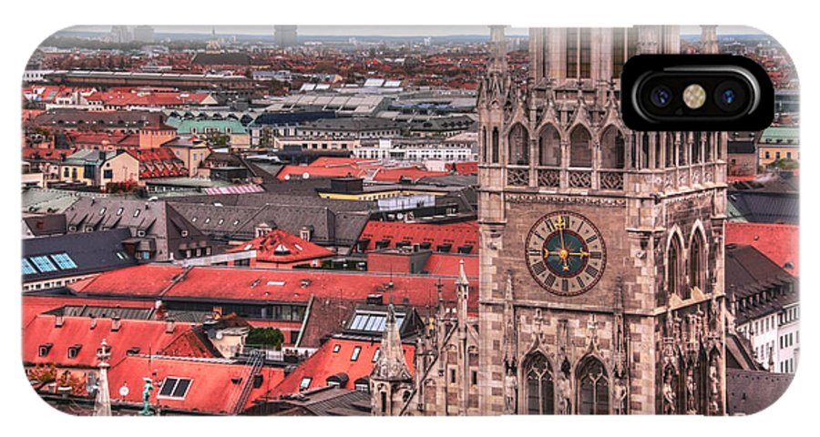 Glockenspiel IPhone X Case featuring the photograph Time For Munich by Anthony Citro