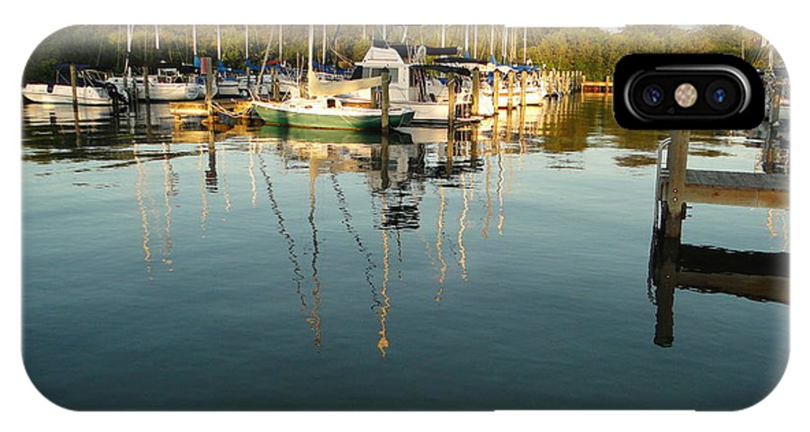 Boats IPhone X / XS Case featuring the photograph Time To Wake Up by Michael L Gentile