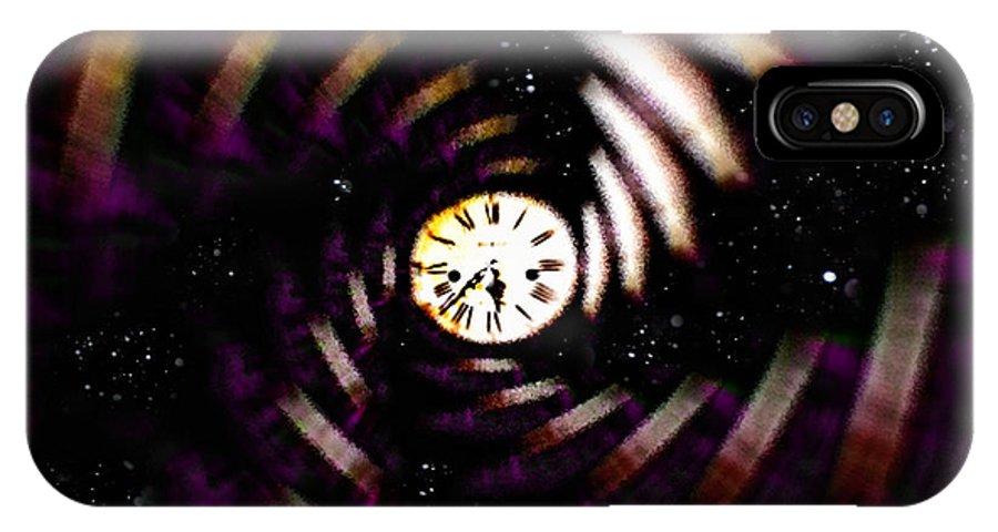Digital Art IPhone X Case featuring the digital art Time Traveler by Paula Ayers