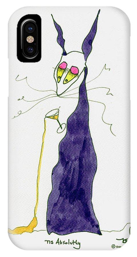 Purple IPhone X Case featuring the painting Tis Absolutly by Tis Art