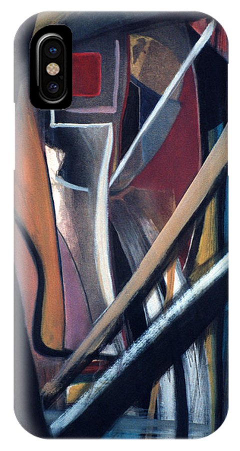 Bowie IPhone X Case featuring the painting T.j. Newton by Fabrice Plas