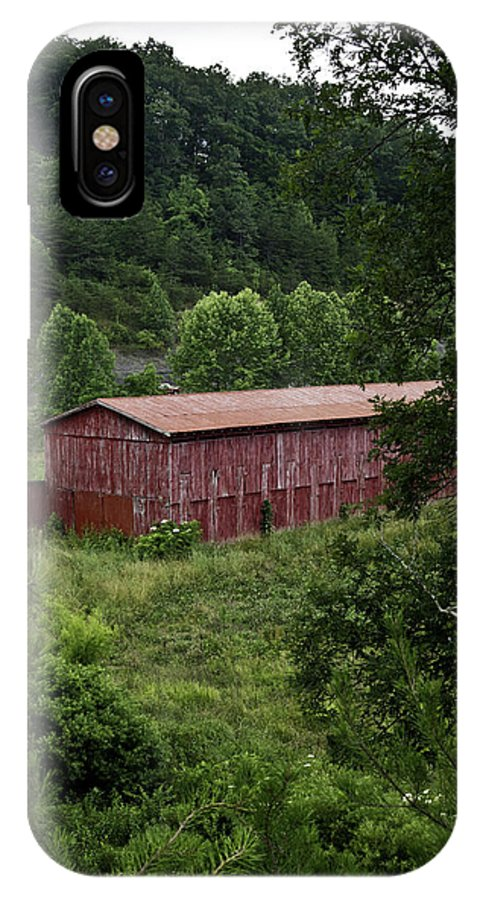 Tobacco IPhone X Case featuring the photograph Tobacco Barn From Afar by Douglas Barnett