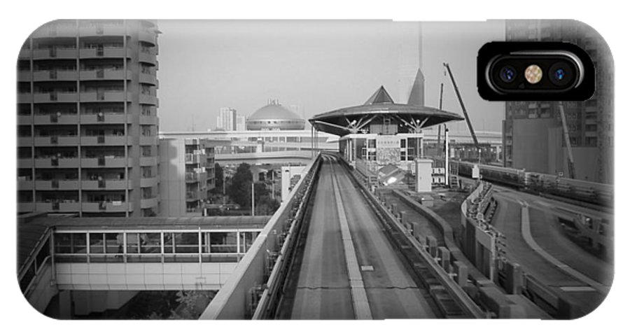 IPhone X Case featuring the photograph Tokyo Train Ride 1 by Naxart Studio
