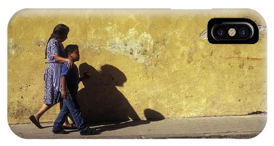 Guatemala IPhone X Case featuring the photograph Touching Antigua Scene by John Mitchell