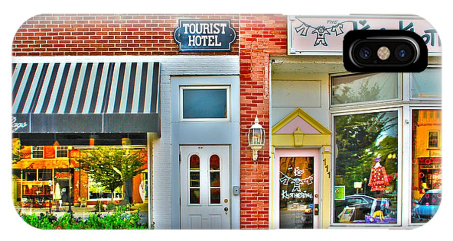 Tourist Hotel IPhone X Case featuring the photograph Tourist Hotel-downtown Perrysburg by Jack Schultz