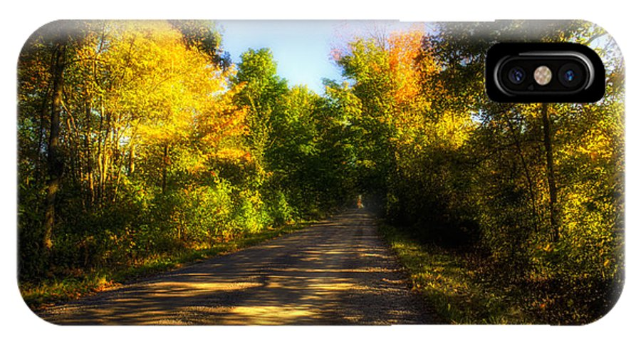 Ontario IPhone X Case featuring the photograph Townline Road by John Herzog