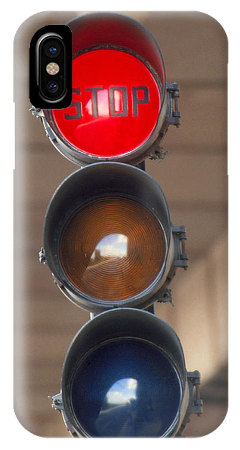 Traffic Lights IPhone X / XS Case featuring the photograph Traffic Lights by David Parker.