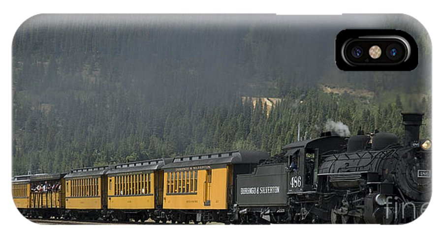 Cumbres & Toltec IPhone X Case featuring the photograph Trainload Of Tourists by Tim Mulina