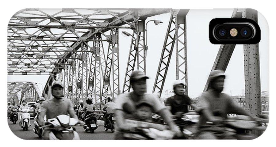 Asia IPhone X Case featuring the photograph Trang Tien Bridge Hue by Shaun Higson