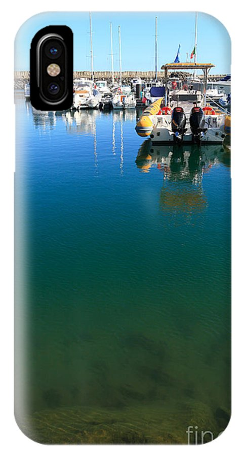 Marina IPhone X Case featuring the photograph Tranquility At The Marina by Gaspar Avila