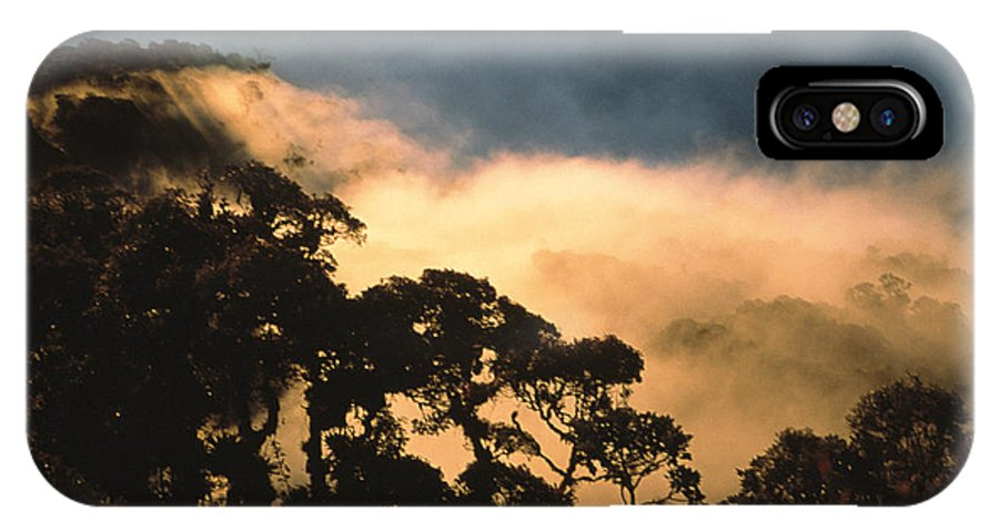South America IPhone X / XS Case featuring the photograph Trees And Mountaintops Above The Clouds by David Evans