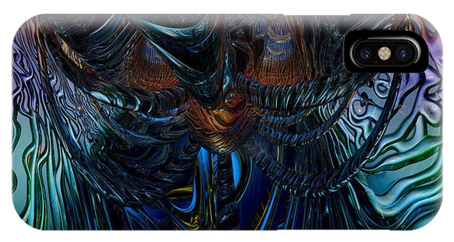 Canvas IPhone X Case featuring the digital art Tremendous Overflow Fx by G Adam Orosco