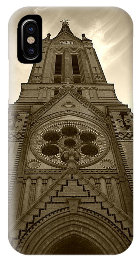 Architectural IPhone X Case featuring the photograph Trinity Lutheran by Nina Fosdick