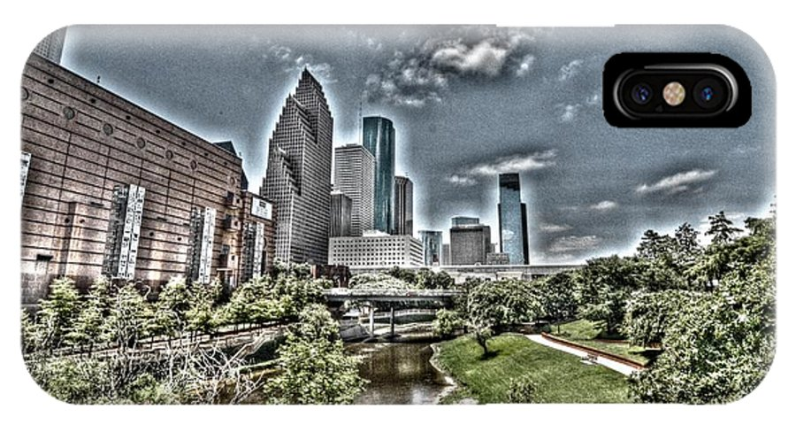 Houston IPhone X Case featuring the photograph Trippy Houston by David Morefield