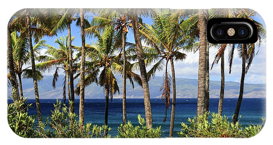 Palm Trees IPhone X Case featuring the photograph Tropical Paradise Maui by Pierre Leclerc Photography