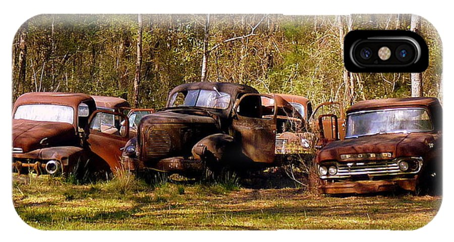 Trucks IPhone X Case featuring the photograph Truck Graveyard by Carla Parris