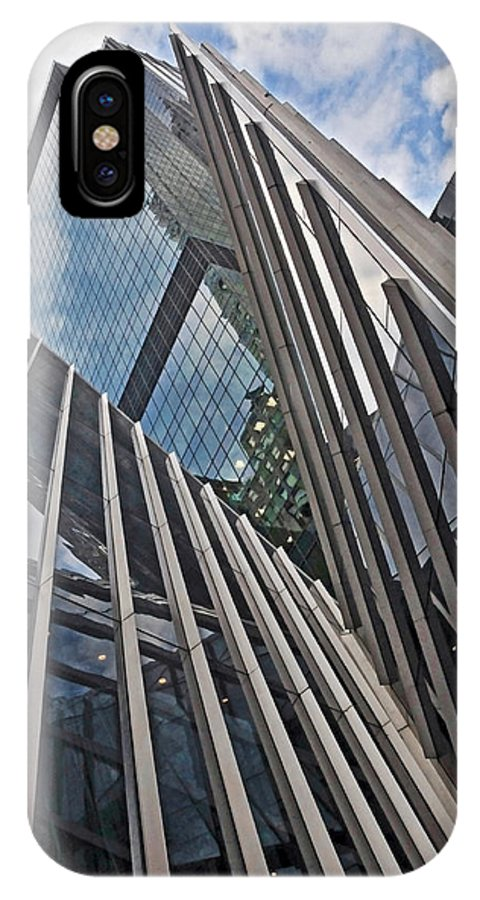 Nyc IPhone X Case featuring the photograph Trylon Towers by S Paul Sahm