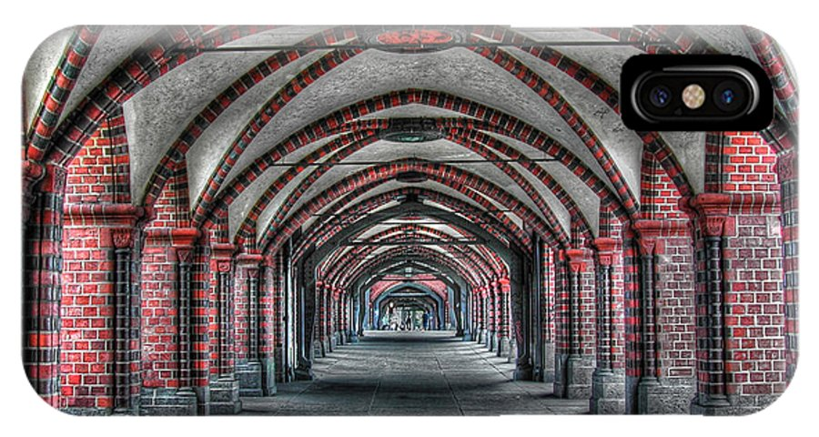 Tunnel IPhone X Case featuring the photograph Tunnel With Arches by Mats Silvan