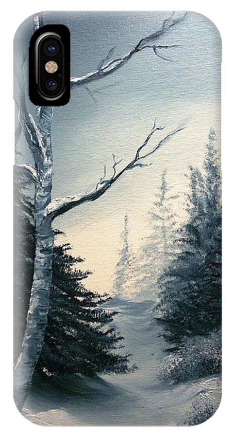 Landscape IPhone X Case featuring the painting Twilight by Peggy King