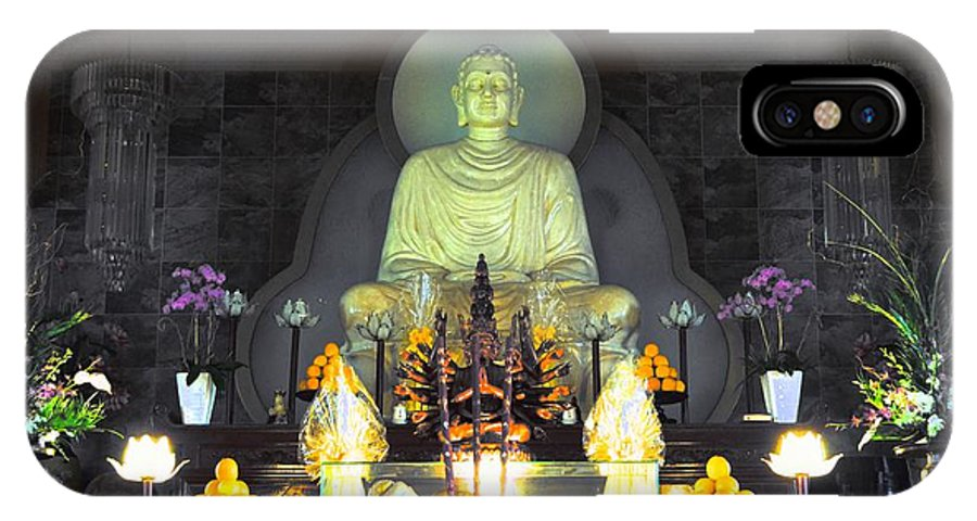 Buddha IPhone X Case featuring the photograph Twisted Buddha by David Morefield