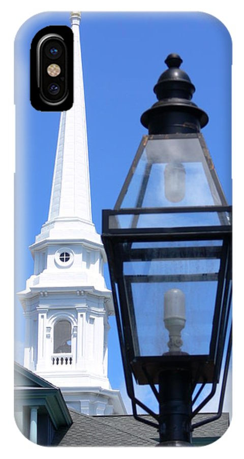 Church IPhone X Case featuring the photograph Two Lights by Kevin Fortier