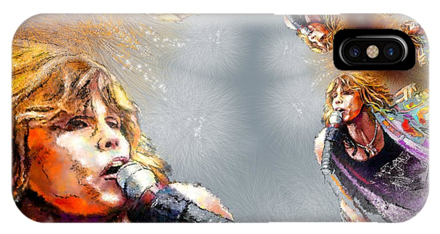 Music IPhone X Case featuring the painting Tyler Mania by Miki De Goodaboom