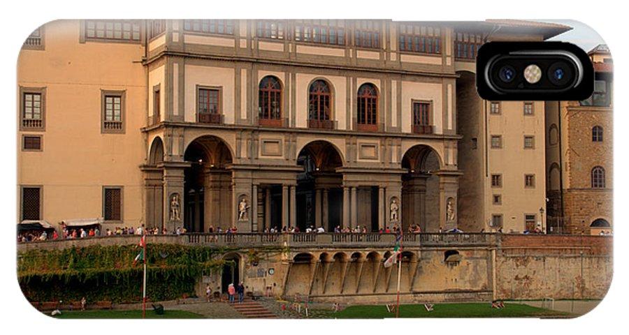 Florence IPhone X Case featuring the photograph Uffizi Gallery by Caroline Stella