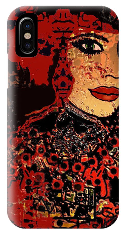 Expression IPhone X / XS Case featuring the mixed media Ulyana by Natalie Holland
