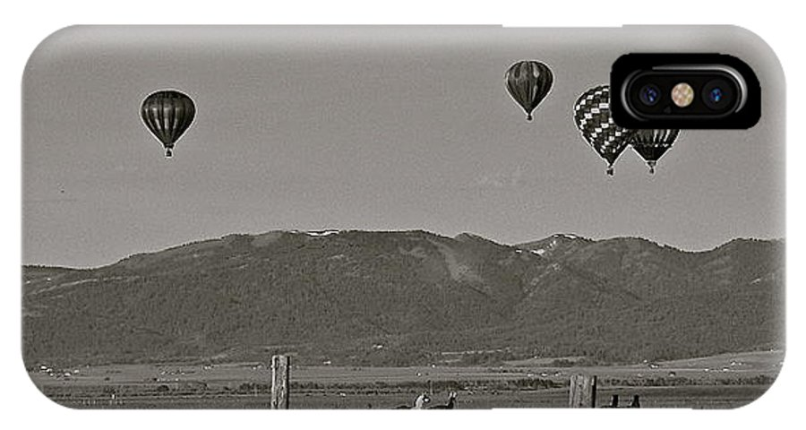 Balloons IPhone X Case featuring the photograph Unconcerned Lamas by Eric Tressler