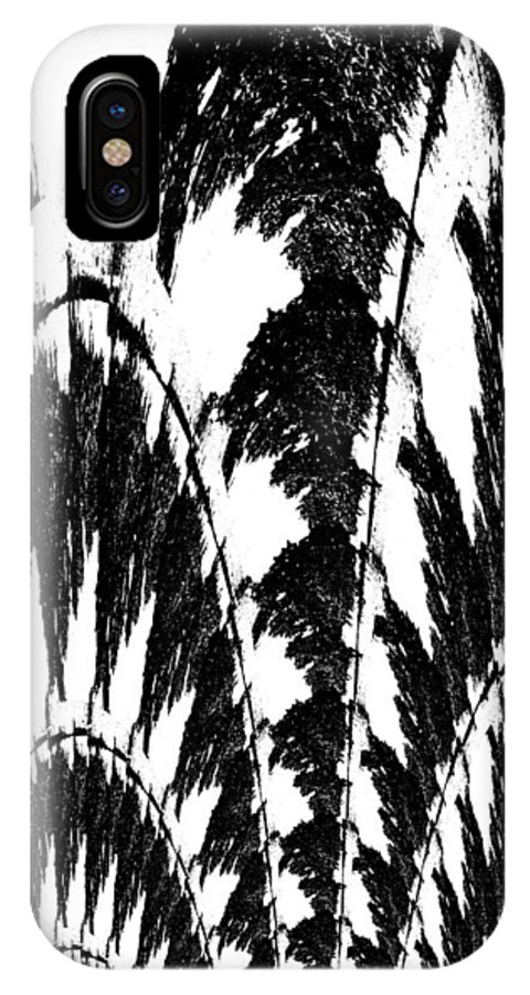 Black And White IPhone X / XS Case featuring the photograph Undefined Black Lace by Renate Nadi Wesley