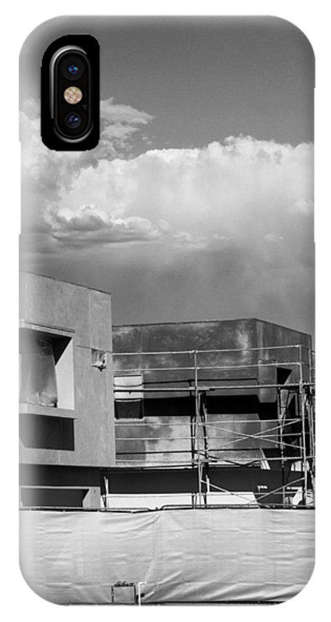 Morrison IPhone X Case featuring the photograph Under Construction Bw Palm Springs by William Dey