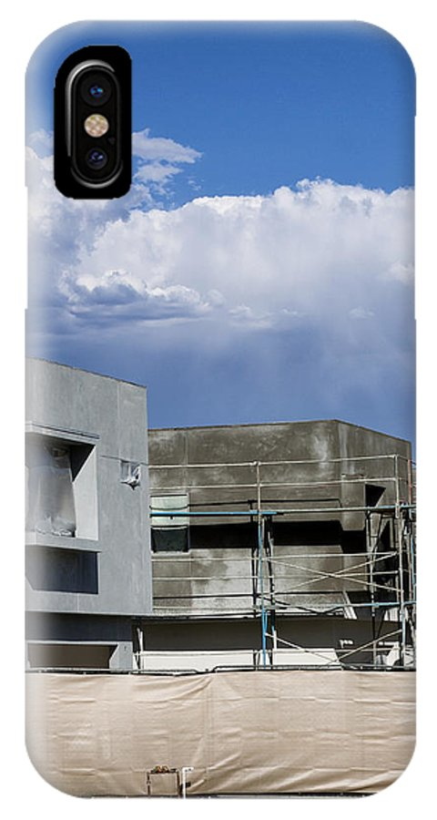 Morrison IPhone X Case featuring the photograph Under Construction Palm Springs by William Dey