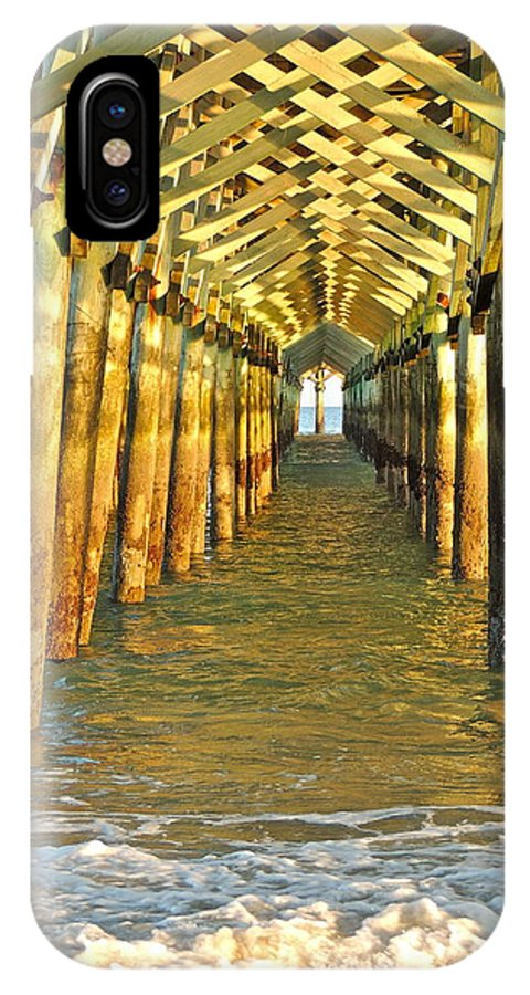 Pier IPhone X Case featuring the photograph Under The Boardwalk by Eve Spring