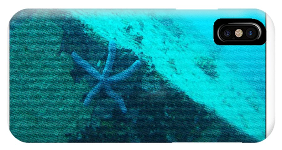 Under The Sea IPhone X / XS Case featuring the photograph Under The Sea C by Debra   Vatalaro