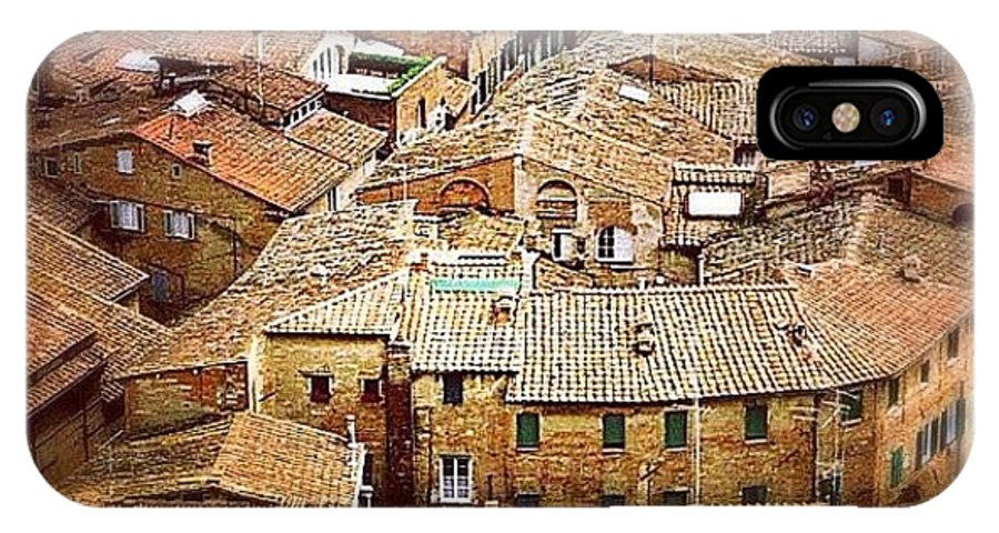 Square IPhone X Case featuring the photograph Under The Tuscan Sun.. #siena #rooftops by A Rey
