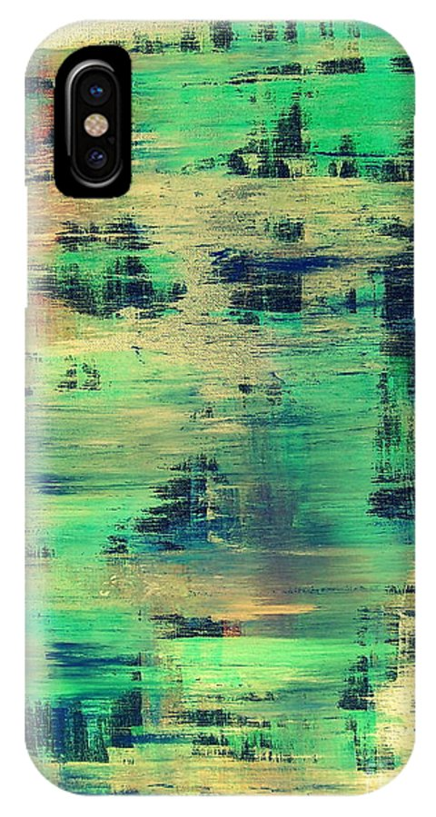 Modern IPhone X Case featuring the painting Uniisto by Alex Blaha